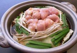 Japanese black hide heifer beef.Offal hotpot special soup set