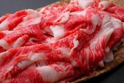 Japanese black hide heifer beef.Meat offcuts