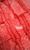 Sliced meat for sukiyaki